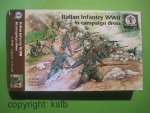 1-72-Waterloo1815-040-WKII-Italien-infanterie-MG-Granatwerfer-Soldaten-Figuren