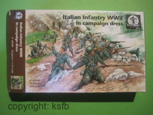 1:72 Waterloo1815 #040 WKII Italien infanterie MG Granatwerfer Soldaten Figuren