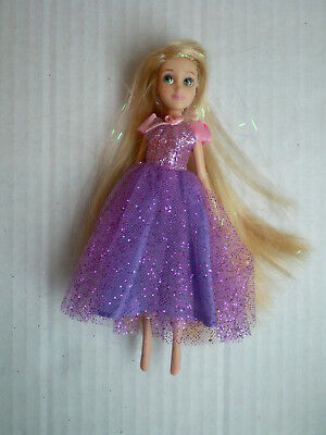 "14cm Systematic Disney Store Rapunzel Tangled Mini Princess 5.5"" Doll Original Outfit Rapid Heat Dissipation"