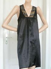 COCKTAILKLEID Kleid Hängerchen schwarz Pailletten silber gold * VILA * Gr. M