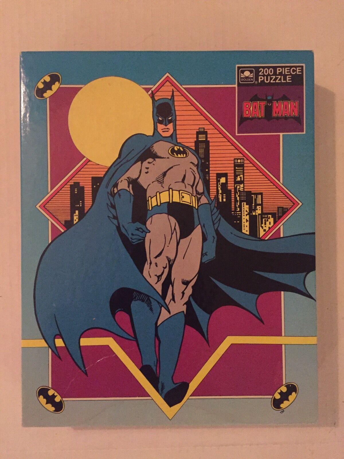 VINTAGE - BATMAN Puzzle - 200 pcs - Golden 1989 UNOPENED