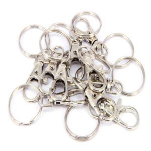 10X-Alloy-Swivel-Lobster-Clasp-Keyring-Keychain-Key-ring-DIY-Pet-Chain-Connector