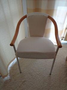 Husse zu Bezug Einzelanfertigung robust creme Stuhl Blickdicht beige Armlehne Stoff Details yb76gYf