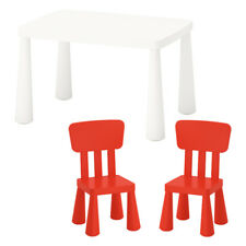 Ikea Kinderstühle ikea mammut kindersitzgruppe kindertisch 2 kinderstühle rot ebay