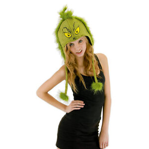 Licensed-Dr-Seuss-How-the-GRINCH-STOLE-Christmas-Costume-Hoodie-Beanie-Hat