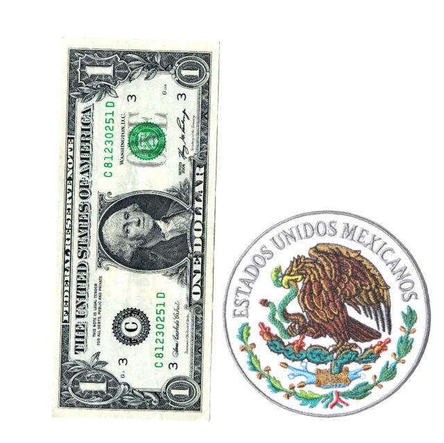 High Quality Parche Bordado Escudo de Mexico Patch Mexican Seal