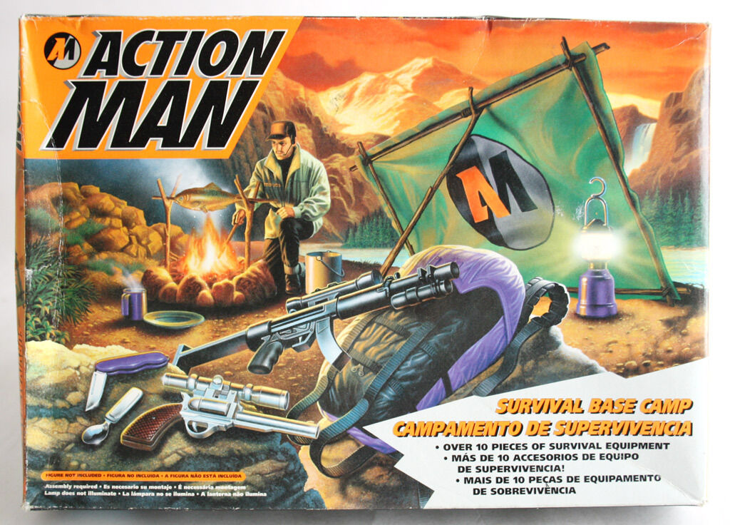 VERY RARE VINTAGE 1994 ACTION MAN SURVIVAL BASE CAMP SET HASBRO NEW SEALED MISB