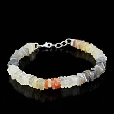 195.00 Cts Earth Mined Untreated Smoky Quartz Oval Shape Carved Beads Bracelet