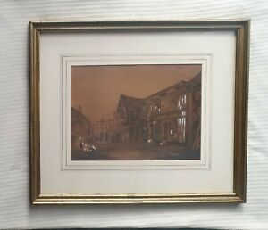 William-Burgess-1805-1861-superb-original-signed-painting-Charles-Dickens-Corner