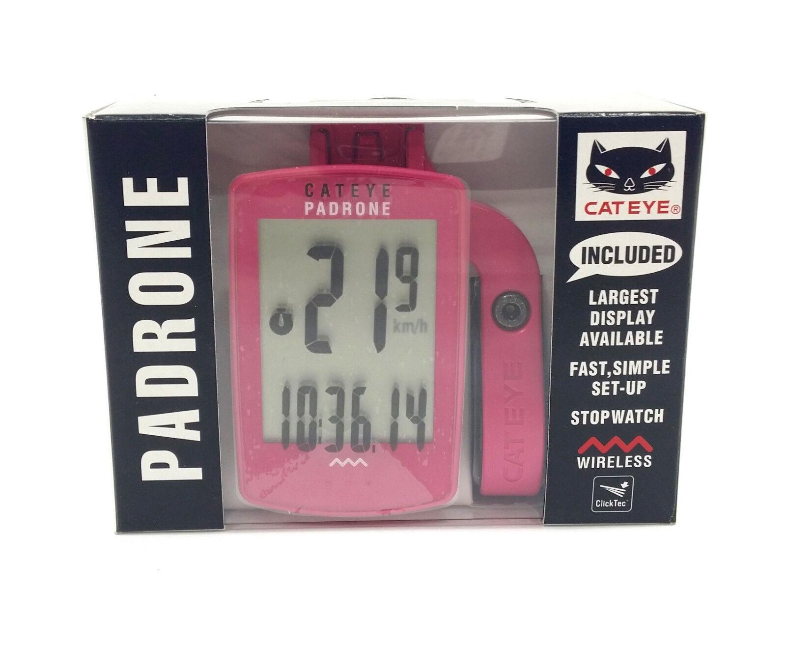 CatEye Padrone Wireless Cycling Computer, Fuchsia Pink