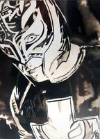 Autographed Rey Mysterio 18 X 24 Poster, Wwe Wcw Wwf Ecw Aaa Signed Wrestling