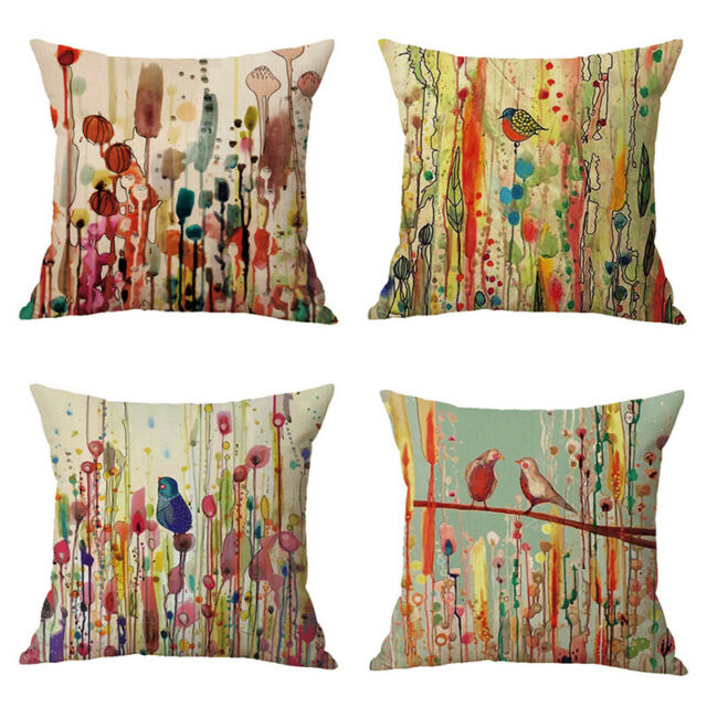 RECTANGLE ANIMAL FLORAL HOME SOFA BED CAR THROW PILLOW CASE CUSHION COVER STRICT