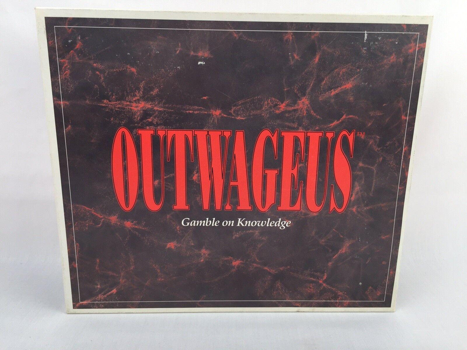 Jahrgang outwageus brettspiel, das spiel von wetten auf wissen komplette 1989