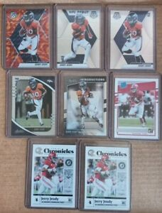 Jerry Jeudy Rookie Card Lot Of 8. Free Shipping