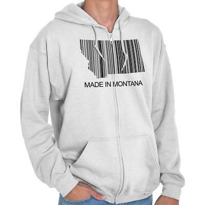 Montana State Made in Montana State Pride T Shirt Gift Ideas Zipper Hoodie