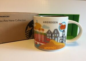 Image Is Loading Starbucks Aberdeen Mug Yah Scotland Ery Rig Uk