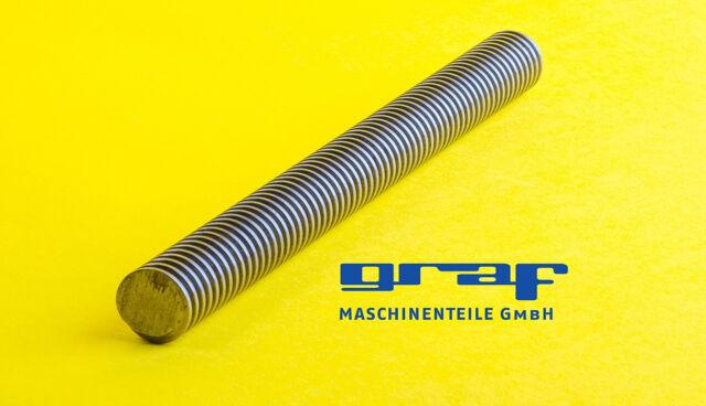 Trapezgewindespindel TR 24x5 rechts 1m Trapezgewinde DIN103 Stahl C15