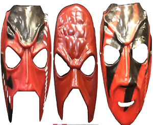 d2016169d6 COMPLETE SET UK KANE WWE WWF WRESTLING COSTUME FANCY DRESS UP MASK ...
