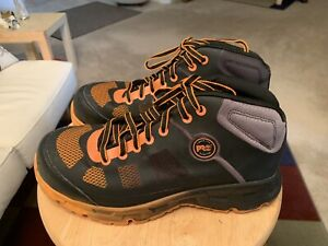 Timberland-Pro-Velocity-Black-Orange-Men-s-US8M-Alloy-Safety-Toe-Mid-Boots-Shoes