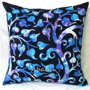 Image Is Loading 24X24 034 Large Indian Tie Dye Leaf Pillow