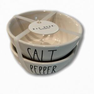New-Rae-Dunn-SALT-amp-PEPPER-Seasoning-Bowls-Set-of-2-Ceramic-Cooking-Kitchen