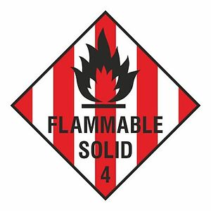 1 X Inflammable Solide Sticker 2mxlnndr-08003122-199569011