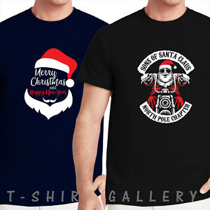 Biker Christmas.Details About Sons Of Santa Claus North Pole Chapter Xmas Funny Biker Christmas T Shirt Tops