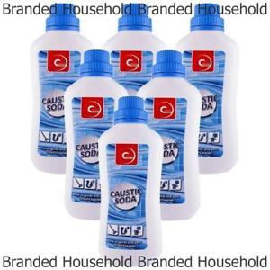 6 x essential power caustic soda unblocker drain cleaner