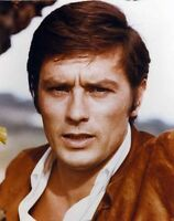 Alain Delon Wearing Brown Suit In Close Up Portrait High Quality Photo
