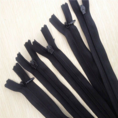10pc 35cm Invisible Nylon Zippers Sewing Closed End Zip Garment Accessories