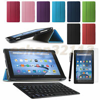 Slim Smart Case Cover For Amazon Kindle Fire Hd 10 2015 Tablet+film+pen+keyboard