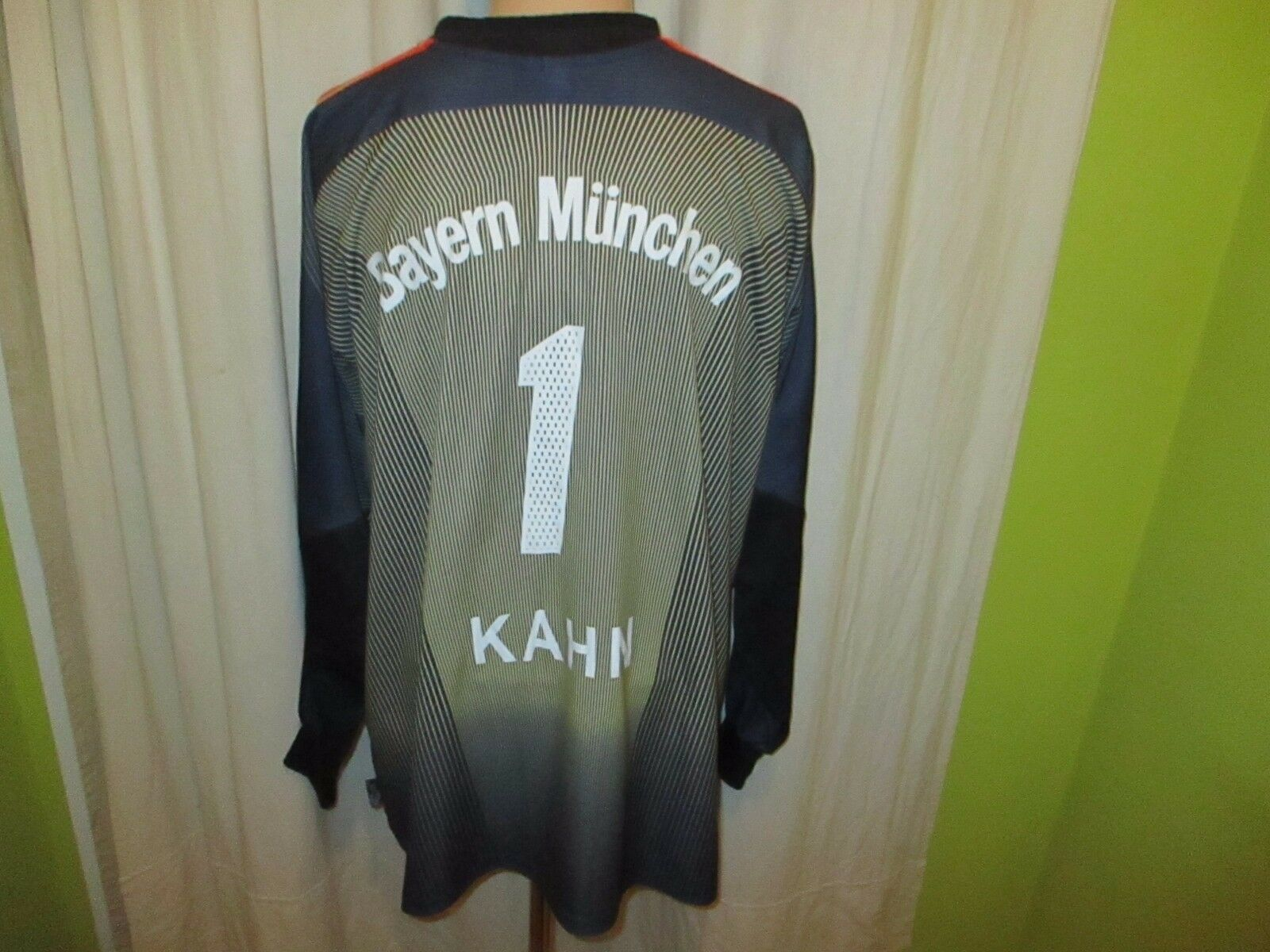 FC Bayern München Original Torwart Trikot 03 04  -T---Mobile  + Nr.1 Kahn Gr.XXL  | Online Outlet Store