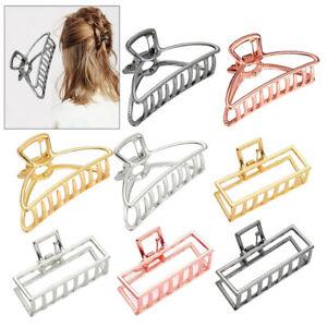 Frauen starke große Haar Klaue Metall Haarspange Klemme Krabben Haar Zubehör