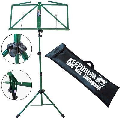 Holzblasinstrumente-zubehör Sonstige Ausdauernd Keepdrum Mus3gr Notenstaender Grün Tasche