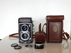 APPAREIL-PHOTO-ROLLEIFLEX-Objectif-TESSAR-75mm-3-5-ZEISS-OPTION-etui-d-039-origine
