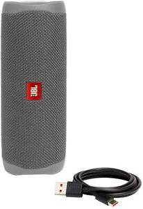JBL Flip 5 Portable Waterproof Bluetooth Speaker -  Gray JBLFLIP5GRYAM