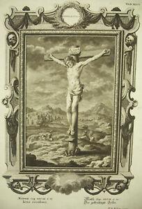 Discipliné Philip Andreas Kilian Bible Evangile Saint Mathieu Xxvii Jésus Crucifié C1750 Une Large SéLection De Couleurs Et De Dessins
