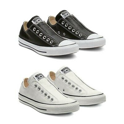 Size 4US Men/'s; 6US Women/'s Black Leather Chuck Taylor All Star Shoes High Top