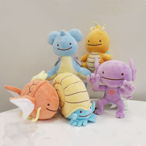 Pokemon Center Go Plush Lapras Dragonite Omanyte Pikachu Ditto Stuffed Toy Doll