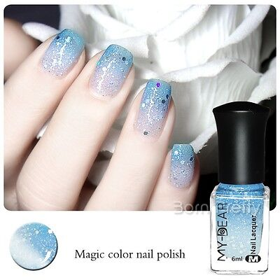 1Pc 6ml Color Changing Thermal Nail Art Polish Peel Off Manicure Varnish C004