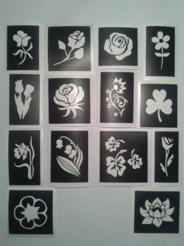 Fleur à thème pochoirs pour gravure sur verre craft hobby présents Etch mixte