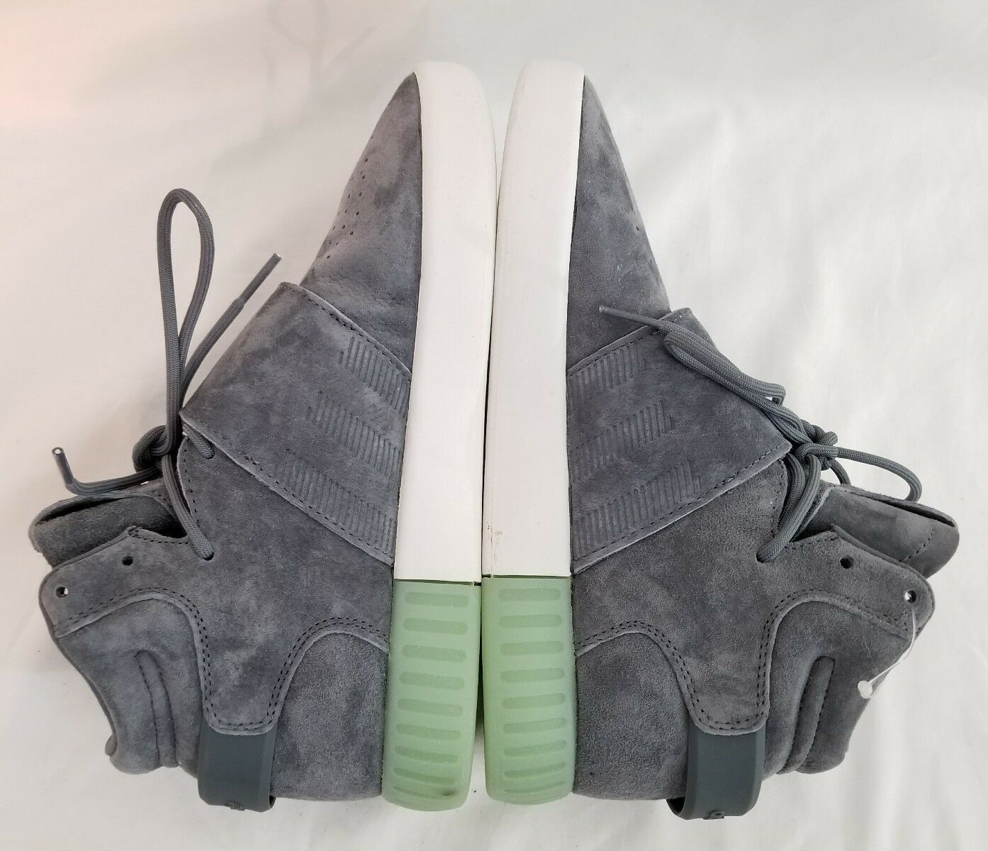 Adidas Originals Strap Tubular Invader Strap Originals Onix Gray Ice Green Sneakers Size 7 New e96168
