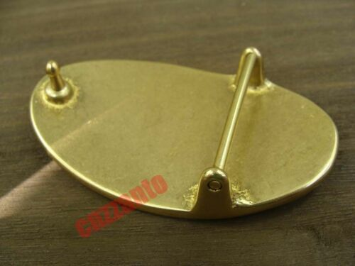 Oval Heavy duty Solid Brass Plate Classical Belt Buckles for 1.5 inch belt Z069