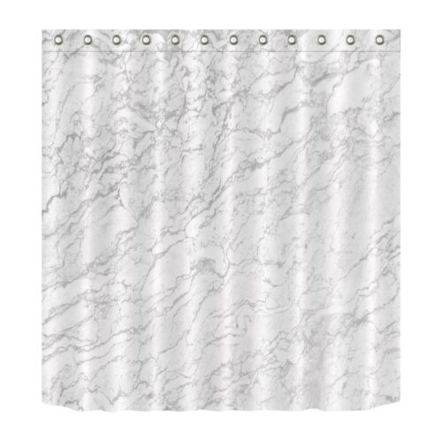 """Nature Marble 71//79/"""" Shower Curtain Set Waterproof Polyester Fabric Curtains NEw"""