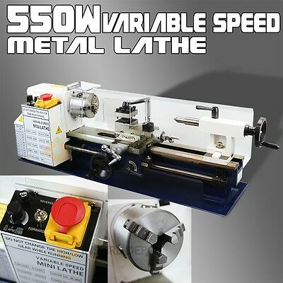 7 x 14 550W Mini Precision Metal Lathe 2500RPM Variable Speed Mini Lathe 3/4HP