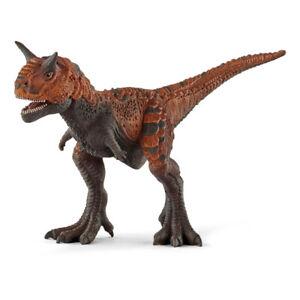 SCHLEICH Dinosaurs Carnotaurus Toy Figure, 4 to 12 Years, Orange/Green (14586)