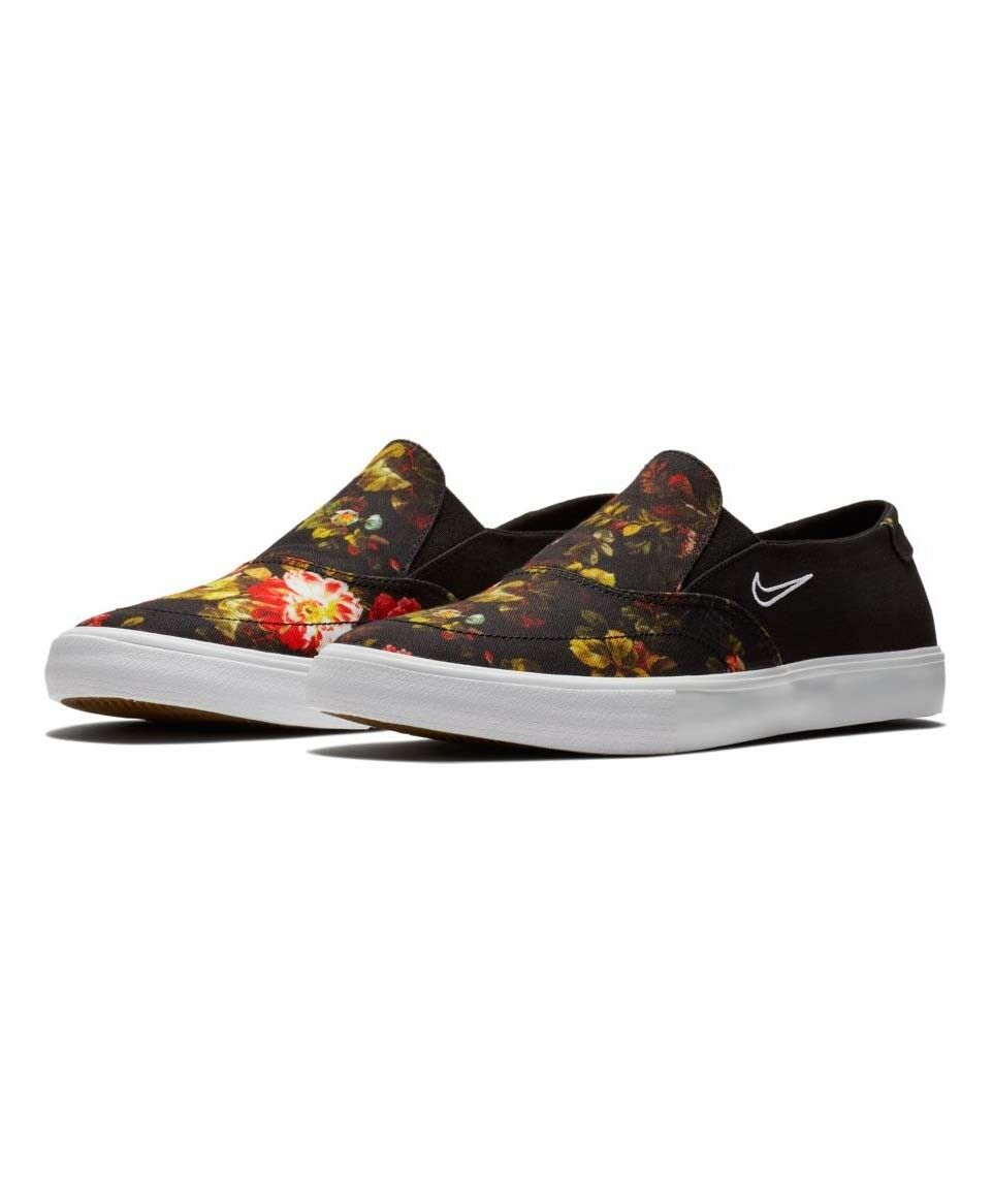 Brand New Mens Nike SB Portmore II Solar Slip On Black White Multi-color