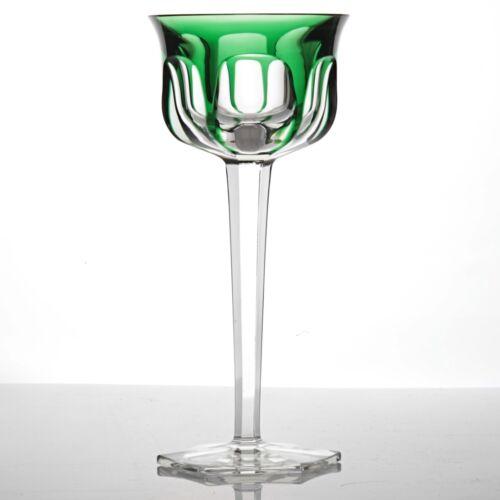 Baccarat Malmaison Weinglas Kristall Glas smaragd grün 18,8 cm Überfang R3U