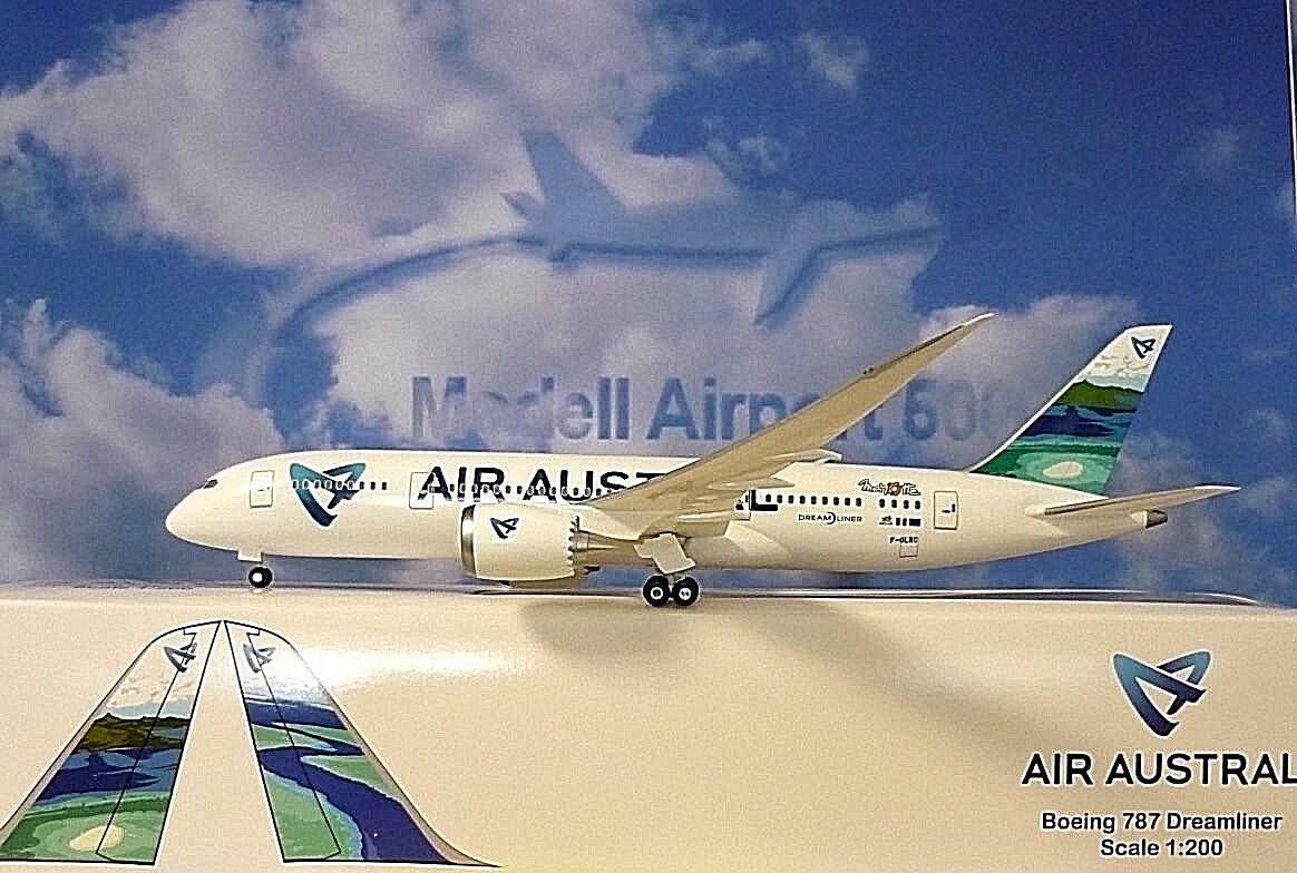 Limox Wings 1 200 Boeing 787 Dreamliner Dreamliner Dreamliner Air Ziege a color Dorado F-Olrc + Herpa fb7837