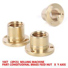 New X Axis Longitudinal Brass Feed Nut Set Milling Machine Tool